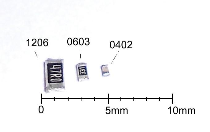 Medidas resistencias de tipo SMD